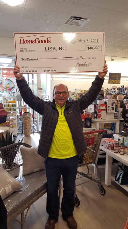 Lisa Inc Receives Generous Donation From Homegoods In Honor Of